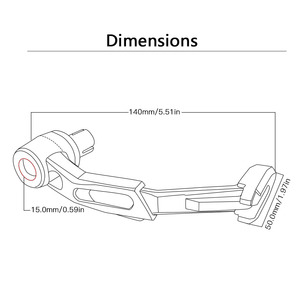 """Image 4 - 7/8"""" 22mm CNC Motorcycle Proguard System Brake Clutch Levers Protect Guard For Hyosung gt250r GT650R gt650r GT 250r"""