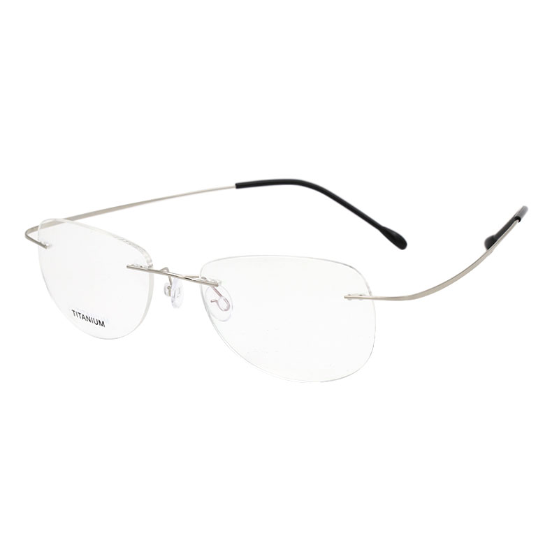 Fashion Rimless Eyeglasses Frame Optical Glasses Titanium Memory Alloy High Quality Prescription Eyewear for Men and Women image