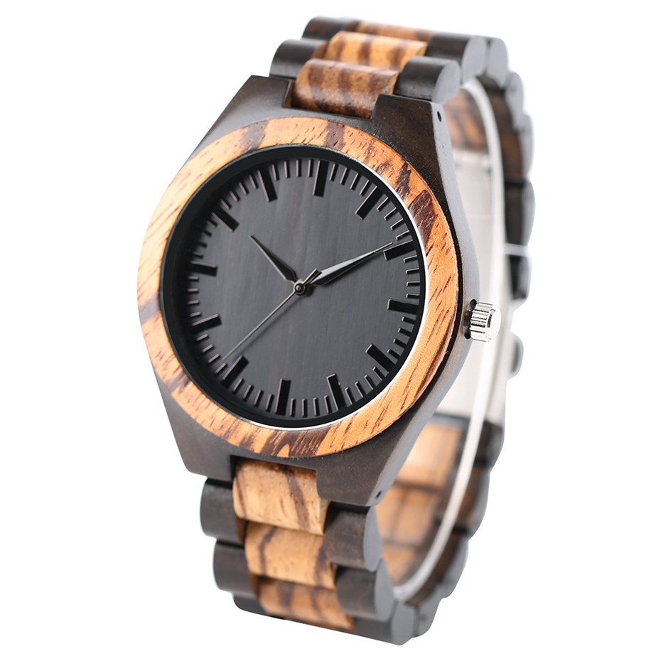 YISUYA Luxury Wooden Watches for Men Vintage Analog Quartz Handmade Walnut Zebra Bamboo Wood Band Wristwatch Clock Christmas Gifts Reloj  (7)