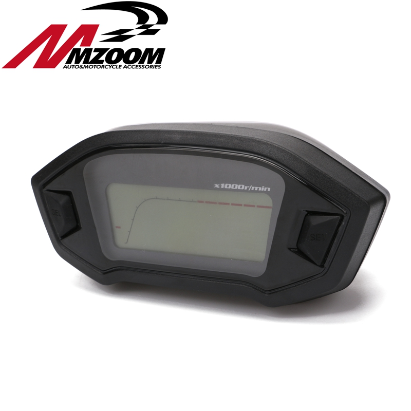 Universal Tachometer ATV Motorcycle LCD Digital Speedometer Odometer KMH Gauge Backlight Motorcycle Odometer for 2,4 Cylinders