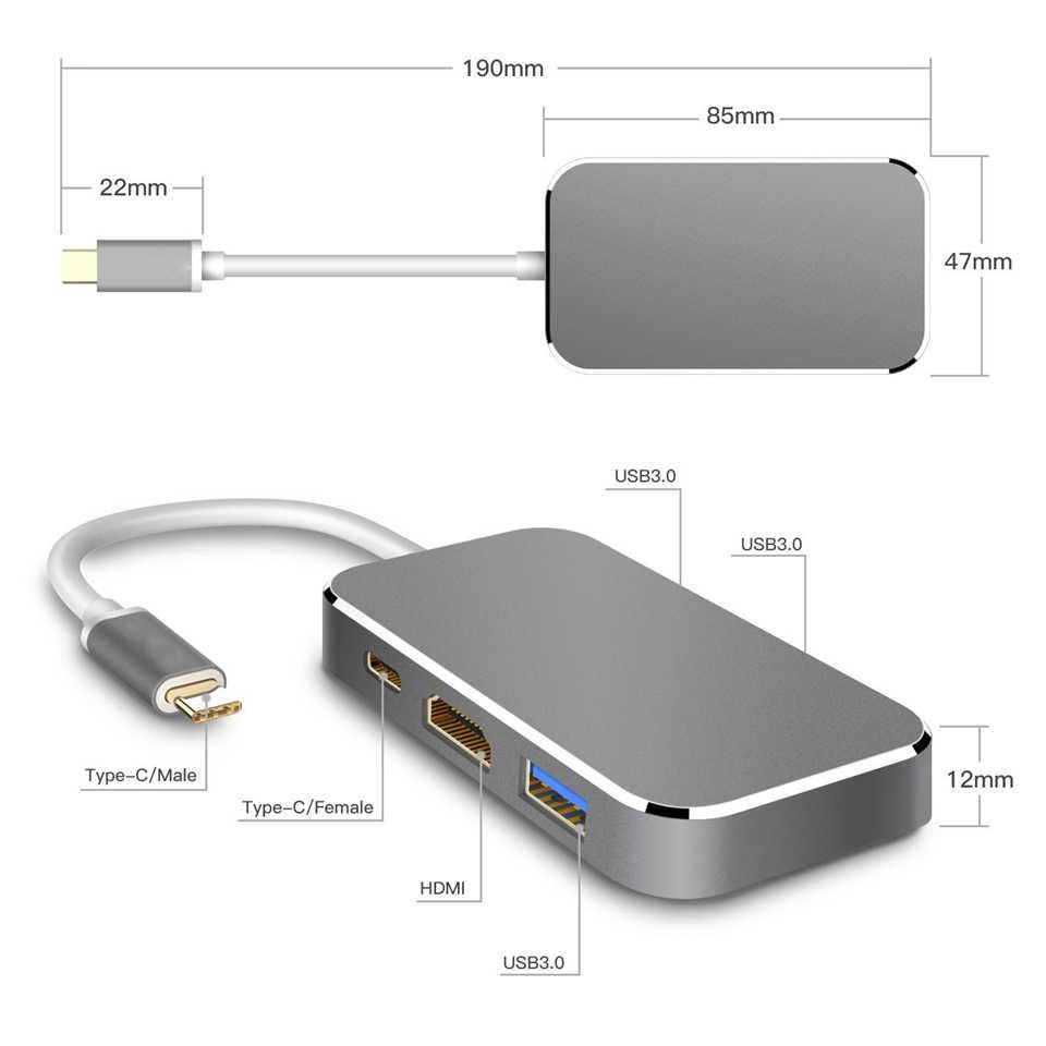Navceker 100 ワット USB 3.1 タイプ C Hdmi USB 3.0 アダプタコンバータ 4 18K 60 60hz の Usb C ハブ macbook Pro のピクセル Huawei 社 Mate10 サムスン S9