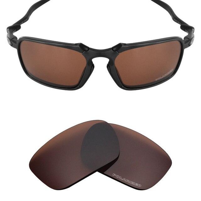7ed7ef671 Badman Mryok + Lentes de Reposição para óculos Oakley POLARIZADOS Resistir  À Água Do Mar Bronze