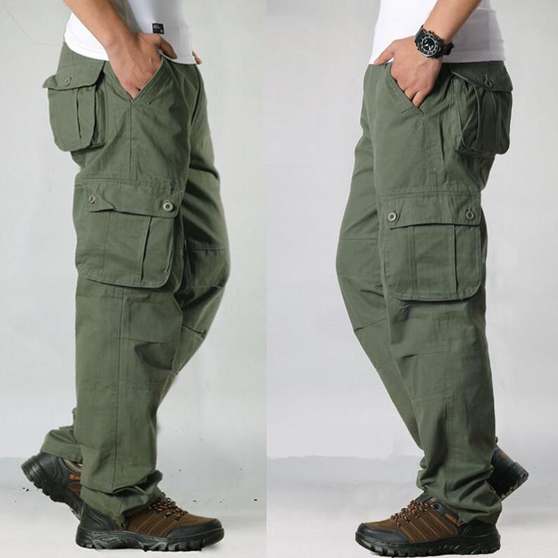 HTB1T4jBavvsK1Rjy0Fiq6zwtXXa0 Overalls Men Cargo Pants Casual Multi Pockets Military Track Tactical Pants Pantalon Hombre Mens Sweatpants Straight Trousers