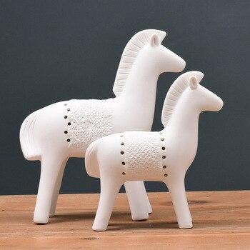 Ancient Porcelain War Horses Sculptures Handmade Ceramics Warfare Trinket Decor Gift Craft Embellishment Accessories Furnishing