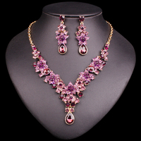 2015 New Colorful Fashion Leaf Flower Rhinestone Women Collar Choker Necklace Statement Jewelry Accessories Free Shipping