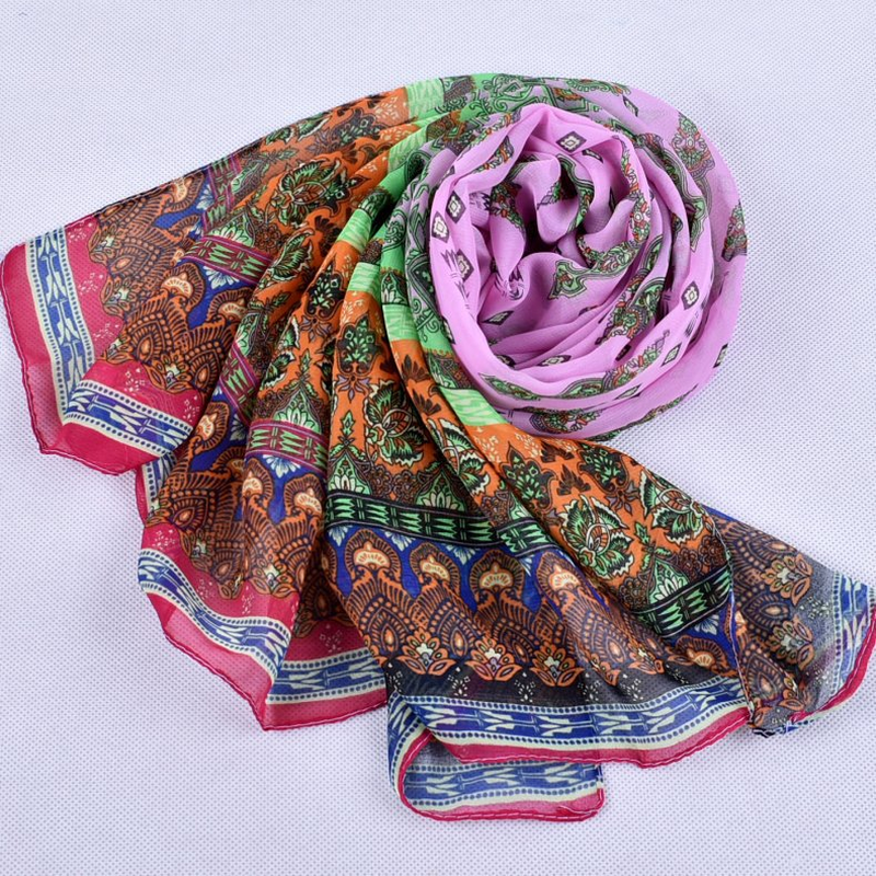 Scarves Women 2019 New Printed Lady 39 s Long Chiffon Towel Ponchos and Capes Infinity Scarf Shawl Head Scarf Beach Prevented Bask in Women 39 s Scarves from Apparel Accessories