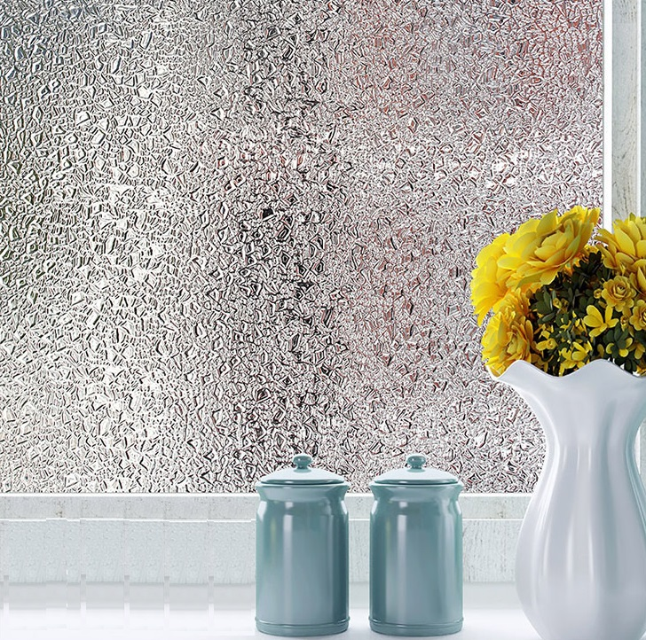 No Glue Glass Window Film Opaque Privacy Decorative Static Cling Self-adhesive Easily Remove Window Sticker 3D laser Home Decor ...