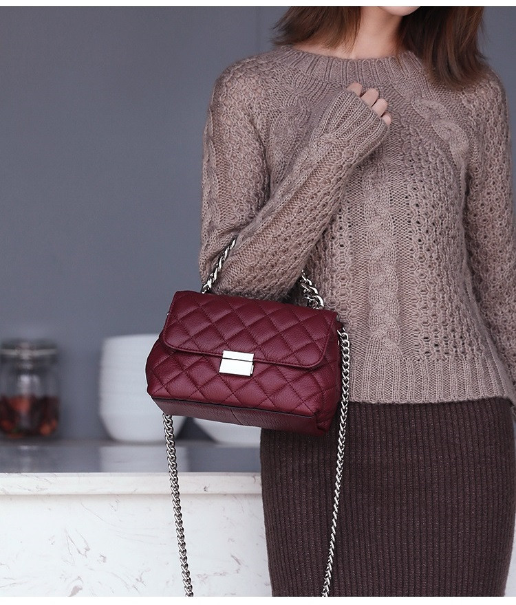 HTB1T4jgaPnuK1RkSmFPq6AuzFXap - Small luxury handbags Leather Ladies Crossbody bag Diamond Lattice Female Totes