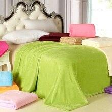 CAMMITEVER Home Textiel Sofa Bedding Fleece Deken Zomer Effen Kleur Dekens Super Zachte Warme Flanel Gooi Op Sofa/Bed /reizen