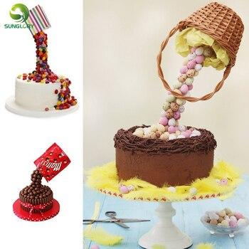 Support à gâteau Kit de coulée de gâteau Structure de Support de gâteau pour la gravité facile défiant les gâteaux par cadre de gâteau Bonus Guide de Conversion inclus
