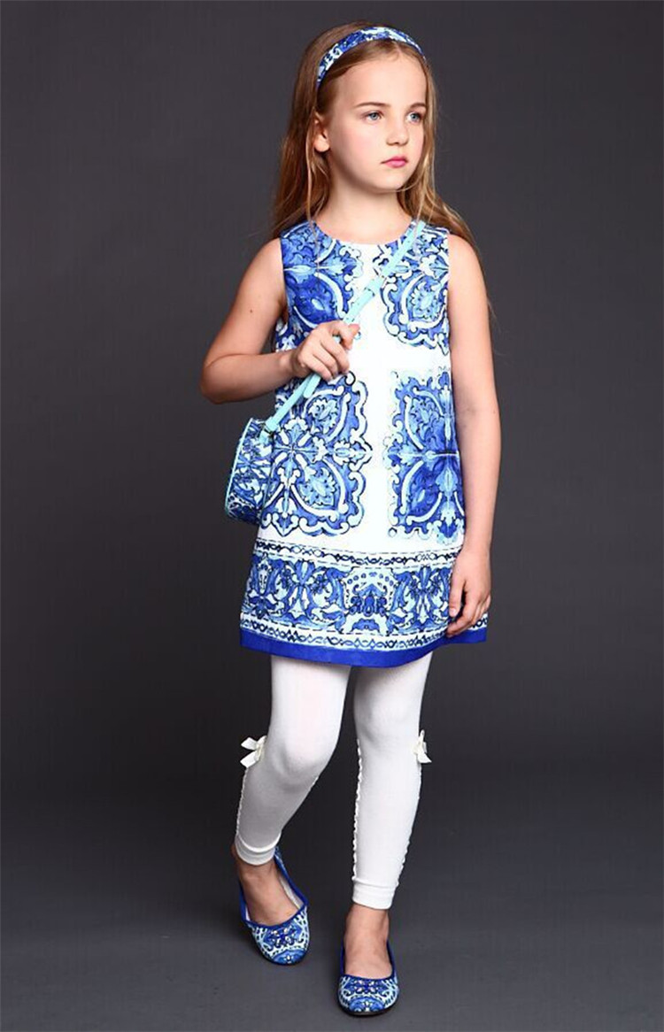 Подробнее о WL MONSOON Baby Girls Dresses Winter 2015 Luxury Brand Children Dress Princess Costume Blue Majolica Kids Dresses for Girls wl monsoon girls dress 2016 brand kids clothes girls costumes princess dress carretto pattern baby girl dresses children