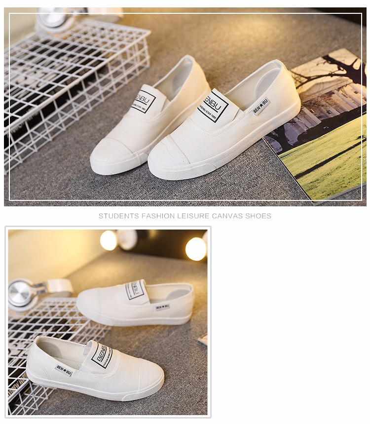 KUYUPP Brand New Woman White Shoes 2016 Summer Casual Flat Slip On Canvas Shoes Round Toe Women\'s Flats Big Size 35-40 PX107 (14)