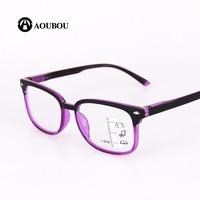 AOUBOU High Quality Unisex Progressive Multifocal Lens Reading Glasses Men Women Presbyopia Hyperopia Bifocal Eyeglasses A010