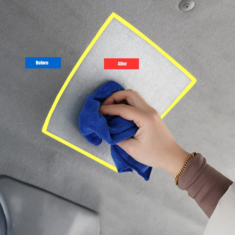 Image 5 - Car Interior Cleaning Agent Ceiling Cleaner Leather Flannel Woven Fabric Water free Cleaning Agent Auto Roof Dash Cleaning Tool-in Leather & Upholstery Cleaner from Automobiles & Motorcycles