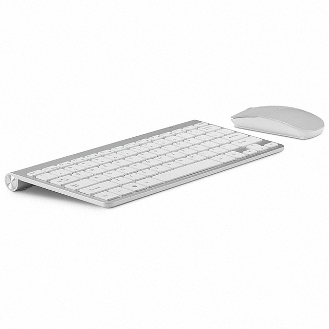 Ultra thin Office Wireless Keyboard and Mouse Combo Less Noisy 2.4G Portable Small Wireless Keyboard Mouse for Desktop Computer