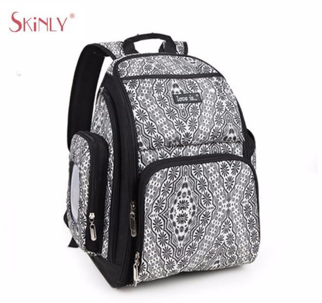 ФОТО Retro Pattern Mulifuction Baby Diaper Nappy Shoulder Bags Large Capacity Waterproof Stroller Pram Backpack Mum Maternity Bags