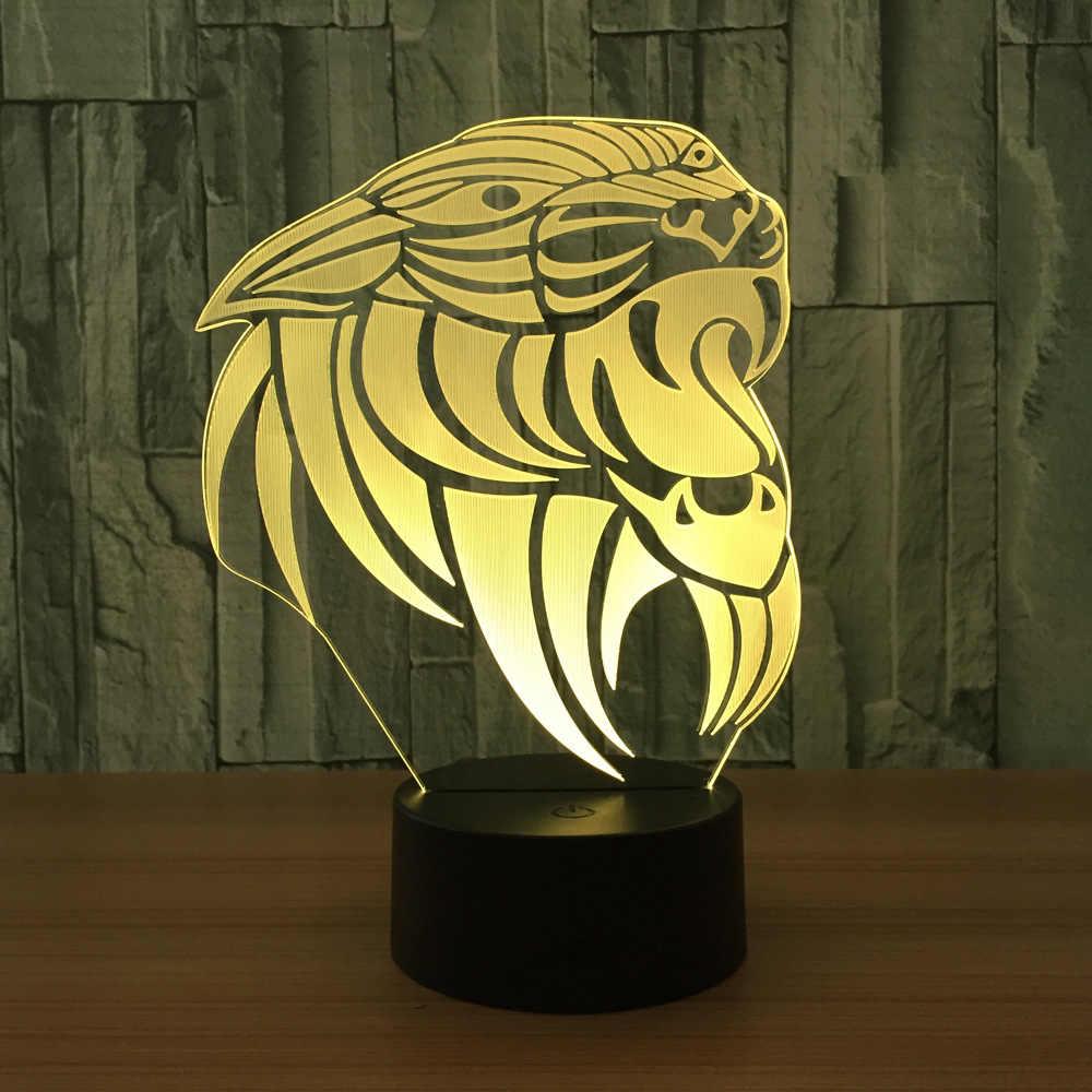 3D лампа обезьяна RGB съемный светильник настроения 7 цветов световая база холодный 3d ночник для детей друг подарок на день рождения праздник
