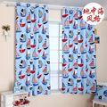 Estilo mediterrâneo Oceano Azul de lona cortinas cortinas semi sombra cortina quarto das crianças frete grátis