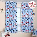 Mediterranean Style Blue Ocean canvas curtains semi shade curtains children's room curtain free shipping