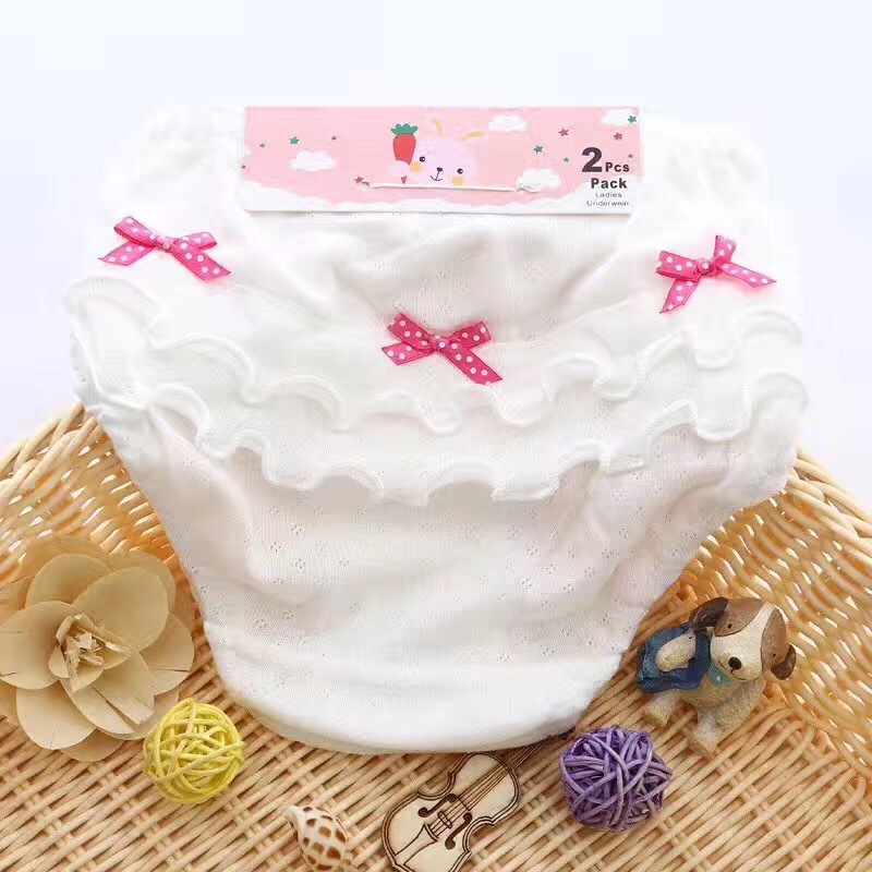 10pc/lot Bow Lace Shorts Baby Girl Briefs Underwear Cotton Underpants Calcinhas Girls Underwear Kids Panties