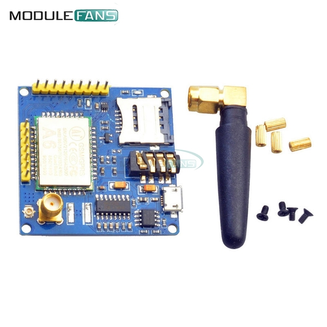 US $5 33 10% OFF|A6 GPRS Pro Serial GPRS GSM Module Core DIY Developemnt  Board TTL RS232 With Antenna GPRS Wireless Module Data Replace SIM900-in