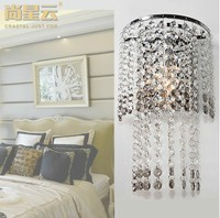 Modern/Contemporary High quality K9 Crystal lamp Grey And Clear Crystal Wall light Bedroom Bedside