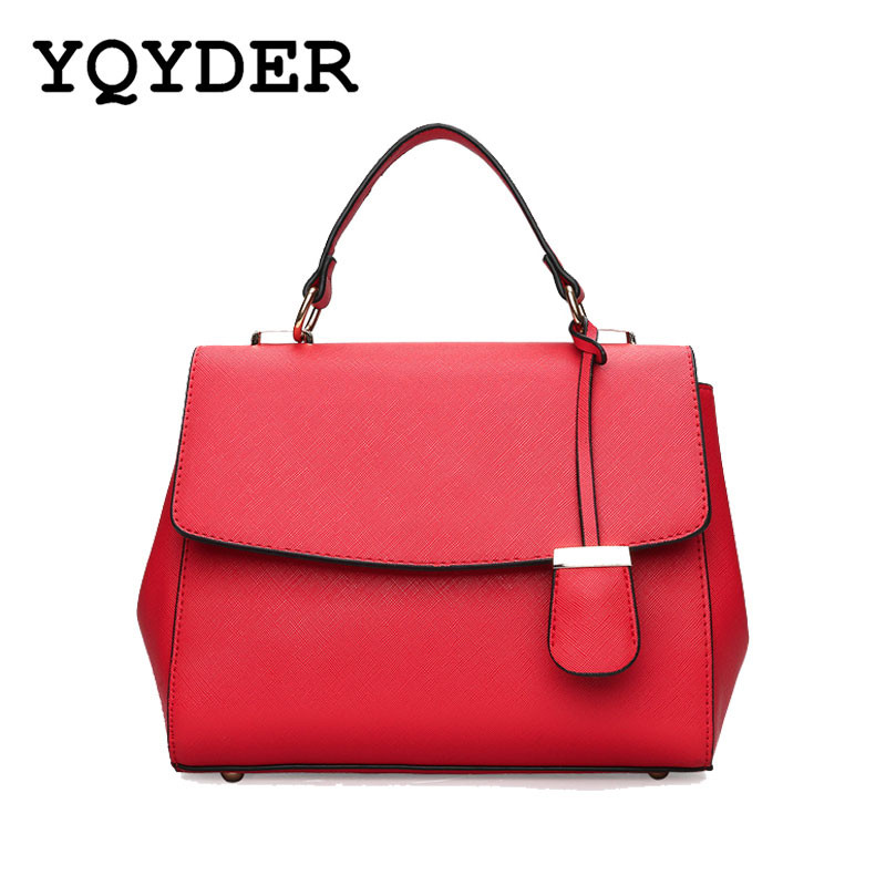 Fashion Women Bags Leisure Simple Shoulder Bags Ladies Handbag High Quality PU Leather Messenger Bag female sac 4 Colours