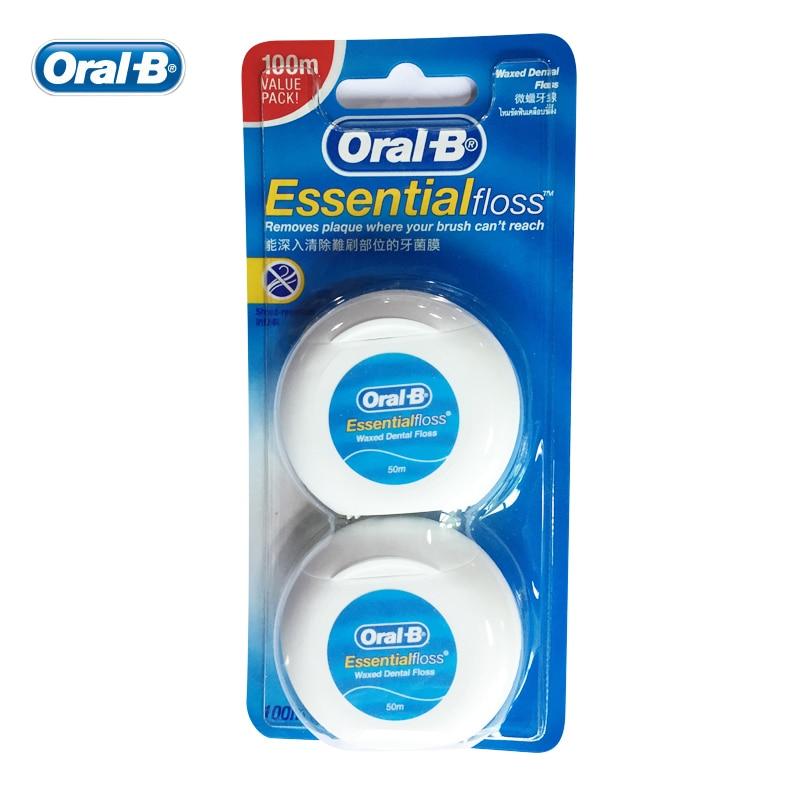 цена на Oral-B 100m Value Pack Dental Floss Interdental Brush Teeth Clean Dental Flosser Stick Tooth Pick Teeth Flosser Tooth Cleaning
