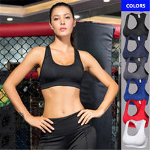 Brand Women Sexy Sports Bra Yoga Tops Solid Color Padded Push Up Sleeveless Shirt Female Gym Fitness Tights Running Vest
