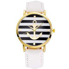 hot deal buy fashion 2017 boat anchor watch women leather quartz watches geneva white casual woman watches female clock relogio feminino