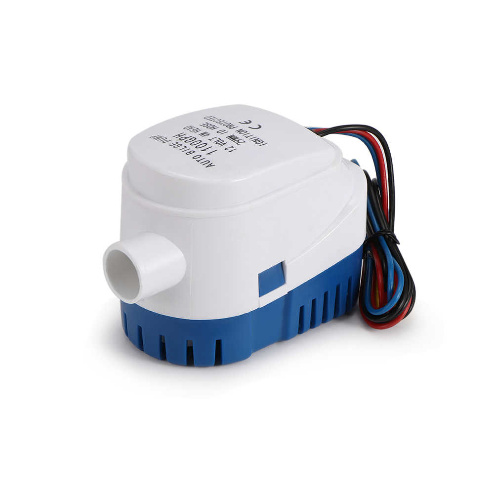 Automatic Bilge Water Pump 12V  750GPH/1100GPH For Submersible Auto Pump With Float Switch Sea Boat Marine Bait Tank Fish