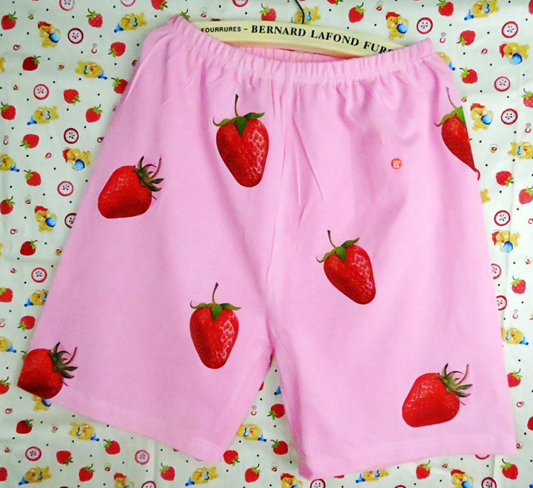 Free Shipping GINTAMA Silver Soul Sakata Gintoki Cosplay Costume Strawberry Costom Beach Shorts/ UnderPants