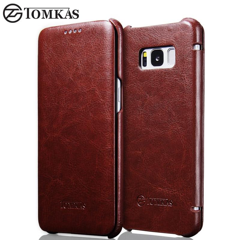 TOMKAS Funda para Samsung Galaxy S8 Funda de cuero PU para Samsung - Accesorios y repuestos para celulares - foto 1