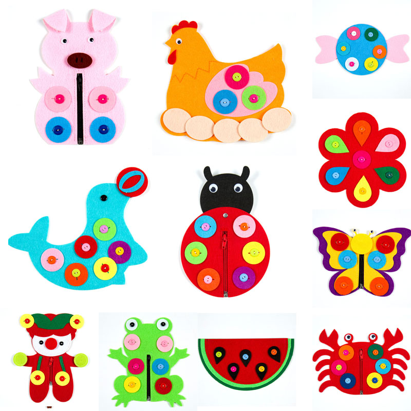 Forest Animal Theme Handmade Cloth DIY Fabric Material Package  Nonwoven Material Kid Toy Trim Ornament Handmade Felt Craft Pack