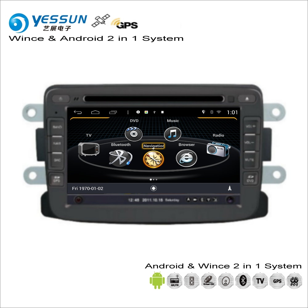 US $311 25 25% OFF|YESSUN For Renault Logan Symbol / For Dacia Logan Car  Radio CD DVD Player GPS Navigation Wince & Android 2 in 1 System-in Car