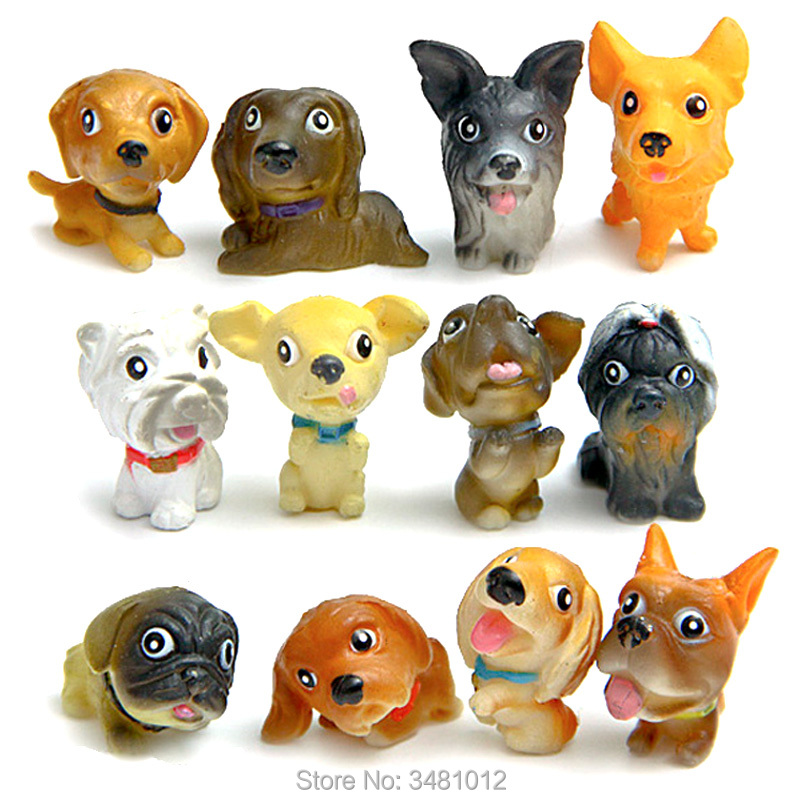 Kawaii Shiba Inu Dogs Animal Figures Miniature Model Figurines Mini Hasky Chartreux Hound corgi Pomeranian Puppy Dog Bulldog