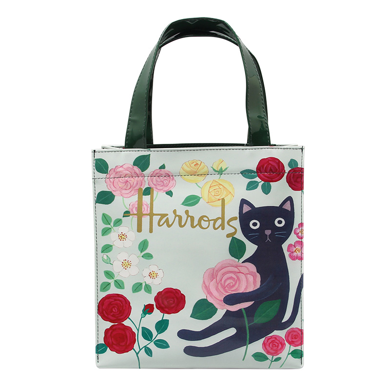 Women's European style high quality PVC large-capacity waterproof shopping bag Youth's vertical bucket-type Indian printing bag high quality indian style 100