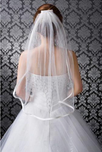 Humor Sauber Und Frisch Aussehende 2019 Neue Lager Weiß Und Elfenbein 1 Layer-band-rand Hochzeit Braut Schleier Mit Kamm Wohltuend FüR Das Sperma