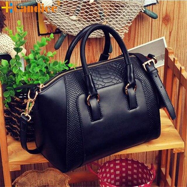 Best Gift Hcandice New Fashion Women Shoulder Bag Faux Leather Satchel Cross Body Tote Handbag drop ship bea6610