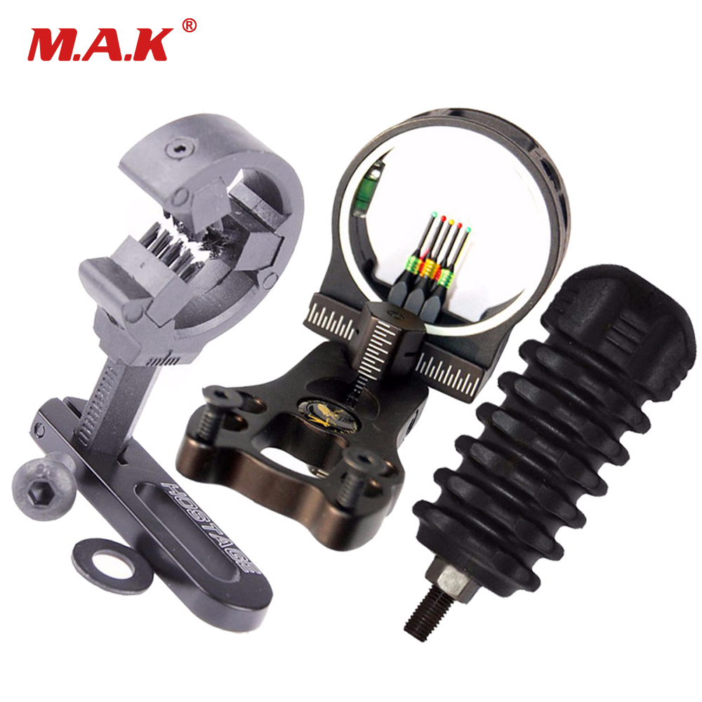 High Quality Bow Accessories Comb With Brush Arrow Rest Bow Stabilizer And Sigh For Recurve Compound Bow Archery Hunting