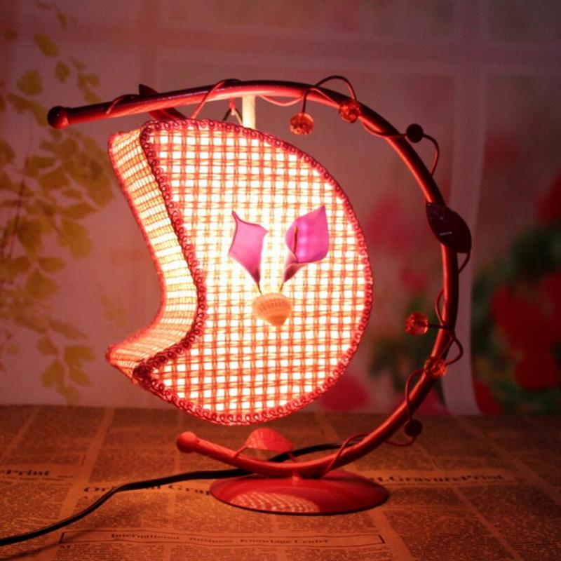 Creative Wrought Iron Desk Lamp Hanging Moon Light Romantic Desk Lamps Decoration Home Decor Light With US Plug