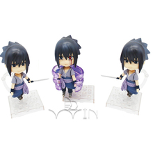 3pcs Anime Naruto Uchiha Sasuke PVC Action Figure Collectible Model doll toy 10cm Mini Figurine J01