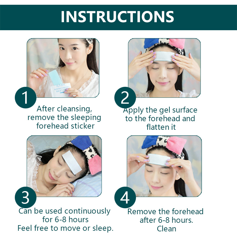 Ilisya Forehead Mask Anti wrinkle Moisturizing Facial Strips Mask with Hydrocolloid Gel to Smooth Frown Lines During Sleeping