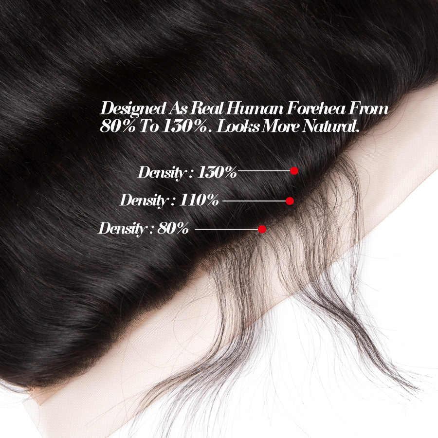 RXY бразильские волосы Закрытие 13x4 прямые ухо в ухо кружева фронтальный заказ с сеткой Remy человеческие волосы Закрытие с волосами младенца # 1b