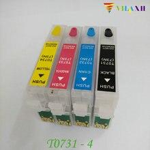 T0731 Refillable Ink cartridge For Epson Stylus TX210 TX410 CX4900 CX3900 TX200 CX7300 CX8300 CX3905 CX4905 CX5500 CX5600 CX5900 цена в Москве и Питере