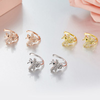 ZOZIRI Cute Tiny Bee Ear clip Jewelry Gold Silver rose gold color Honey Bee Unique fashion women jewelry