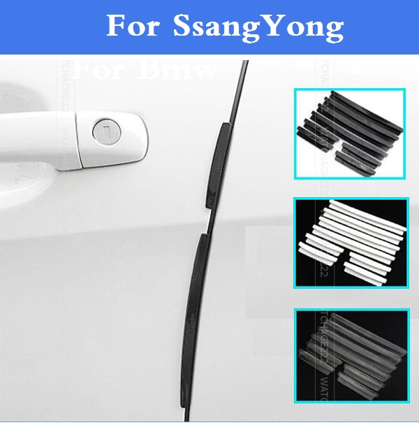 Auto Door Edge Guards Trim Molding Scratch Protector style for SsangYong Actyon Chairman Korando Kyron Musso Nomad Rexton Tivoli(China)