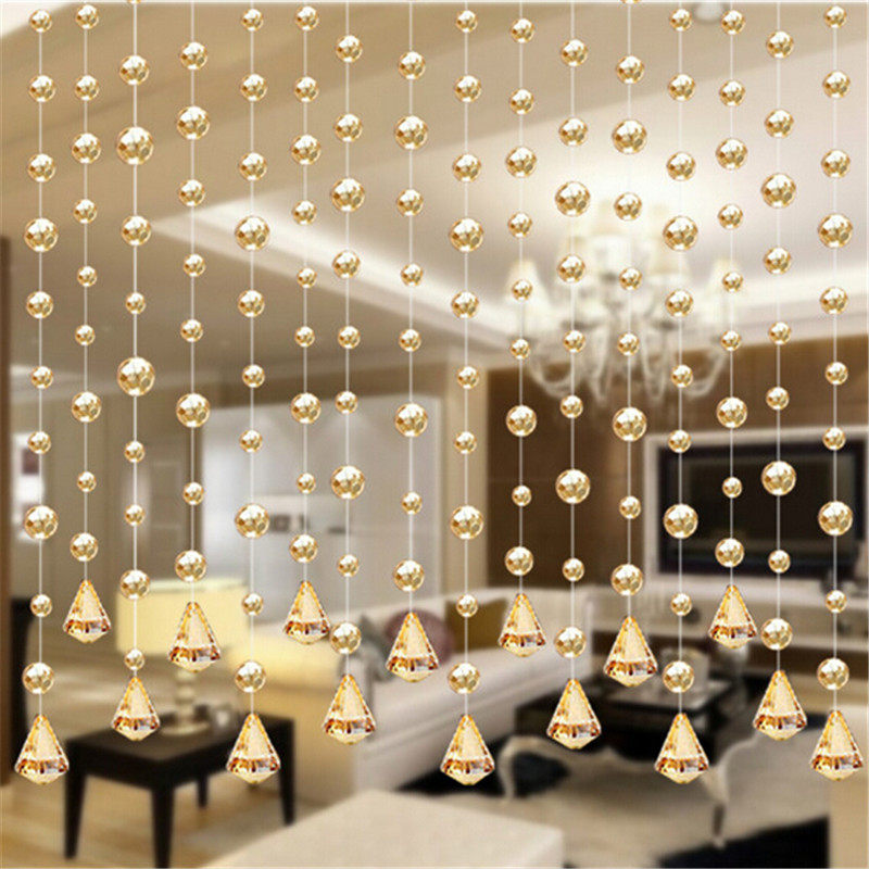 1 Meters Of Crystal Glass Bead Curtain Curtain Channel Background Diy Home Furnishing Wedding Decoration