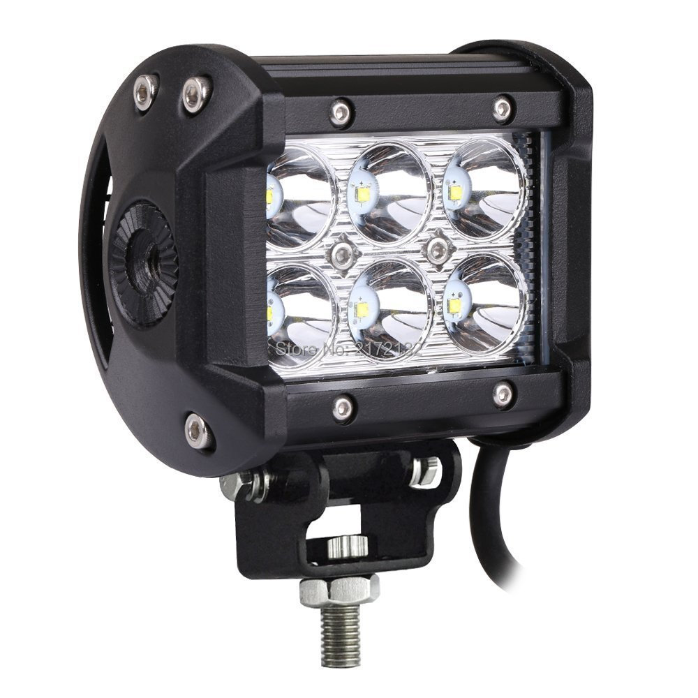 4 Inch 18W LED Work Light Bar for Indicators Motorcycle Driving Offroad Boat Car Tractor Truck 4x4 SUV ATV Spot Light 12V 48w led work light for indicators motorcycle driving offroad boat car tractor truck 4x4 suv atv flood 12v 24v
