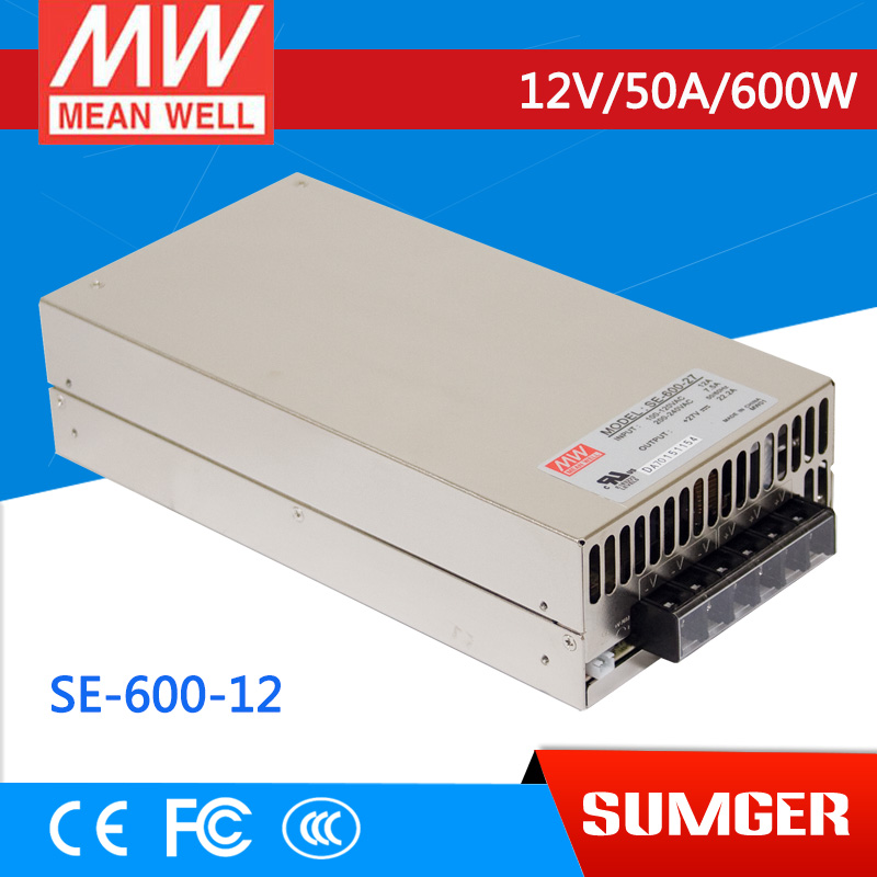 все цены на [Sumger2] MEAN WELL original SE-600-12 12V 50A meanwell SE-600 12V 600W Single Output Power Supply [] онлайн